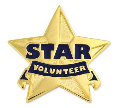 Star Volunteer Pin Front