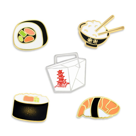 Asian Cuisine 5-Pin Set