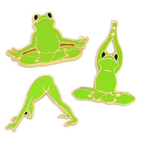 Yoga Frog  pin set