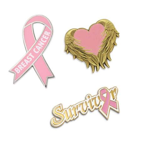 Breast Cancer Survivor 3 Pin Set Front