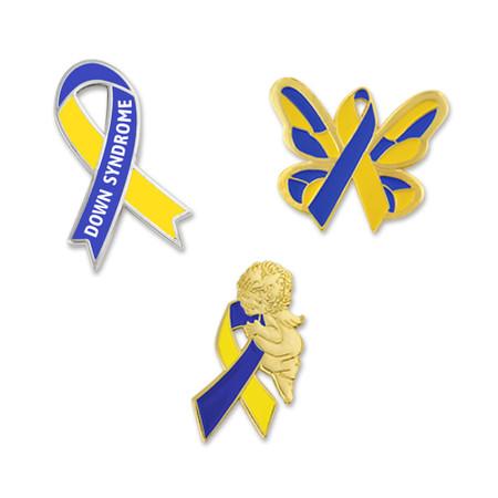 Down Syndrome Awareness 3-Pin Set Main