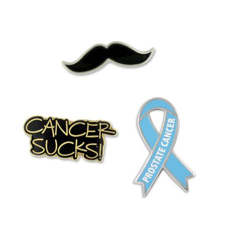 Prostate Cancer Awareness 3-Pin Set Front