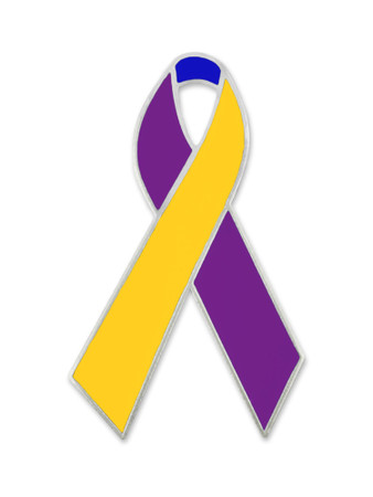 Bladder Cancer Ribbon Pin Front