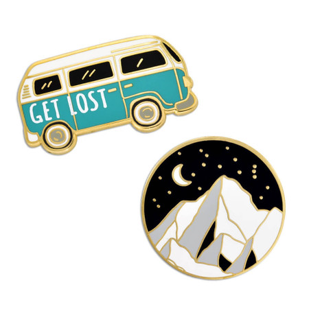 Get Lost 2-Pin Set Front