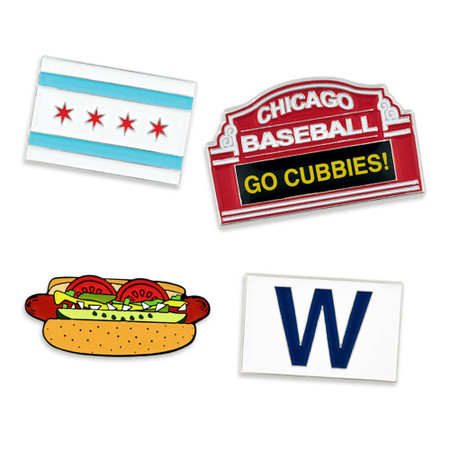 Chicago Baseball 4-Pin Set Main