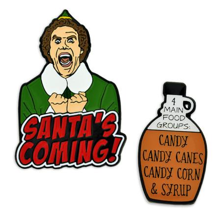 Santa's Coming 2-Pin Set Main