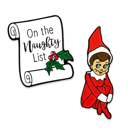 Naughty Elf 2-Pin Set Main