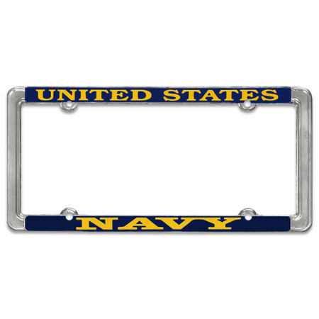 US Navy License Plate Thin Frame