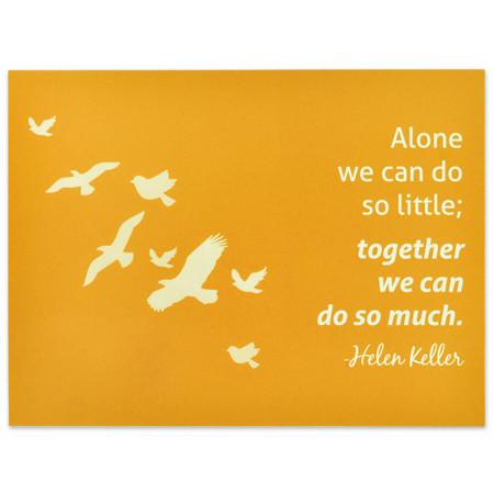 Together We Can Presentation Card Front