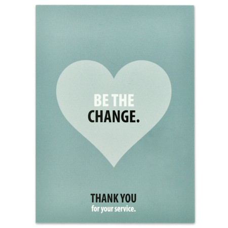 Be The Change Presentation Card Front