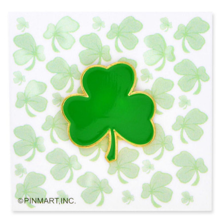 Shamrock Presentation Pin and Card