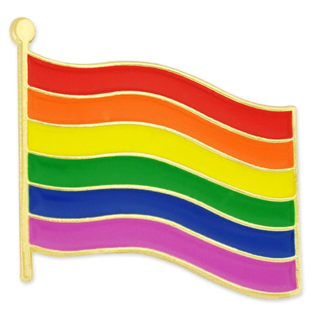 Rainbow Flag Pin with Magnetic Back Front