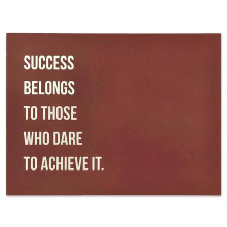 Success Presentation Card