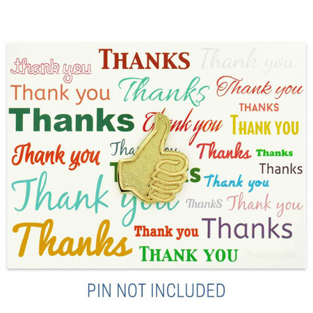 Words of Thanks Presentation Card Front