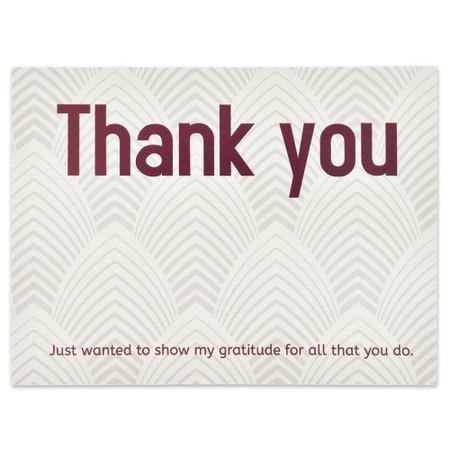 Thank You Gratitude Card Front