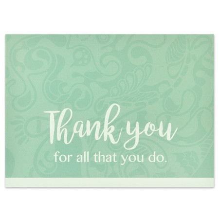 Thank You - All You Do Card Front