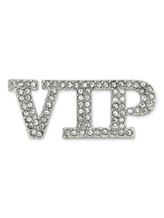 Rhinestone VIP Brooch Pin Front