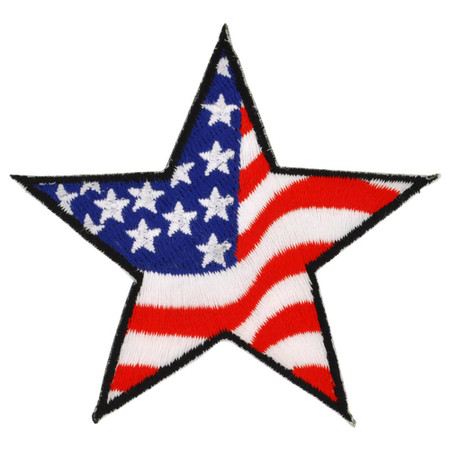 American Flag Star Patch