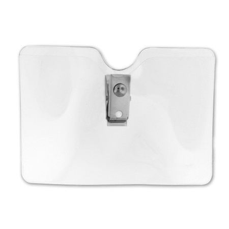Small Horizontal Badge Holder with Clip