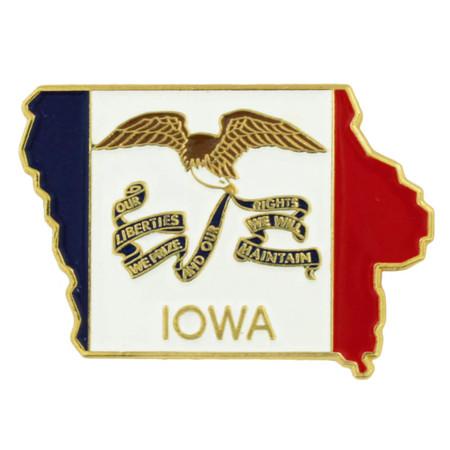 Iowa State Flag Shape Pin