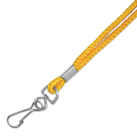 Yellow Cord Lanyard Close