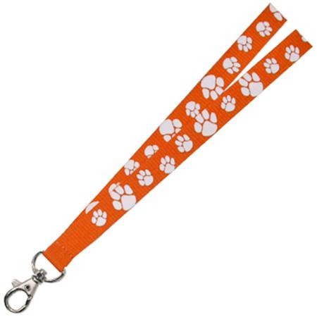 Paw Print Lanyard - Orange