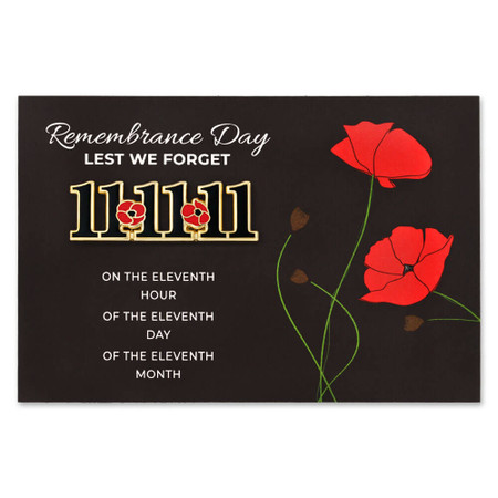 11-11-11 Remembrance day Pin & Card Front