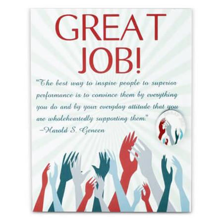 Great Job Card and Pin Card Front