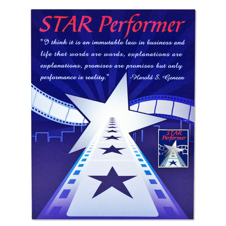 Star Performer Card and Pin Front