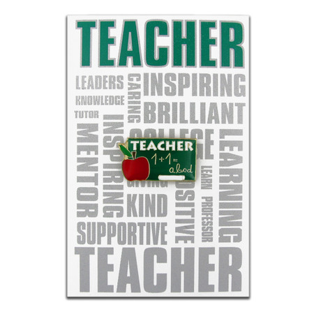 Teacher Pin with Card Front