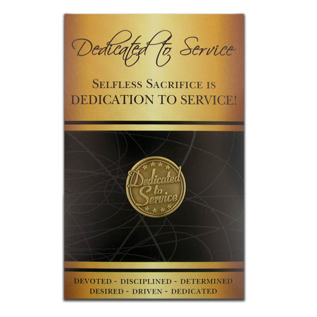 Dedicated to Service Pin with Card Front
