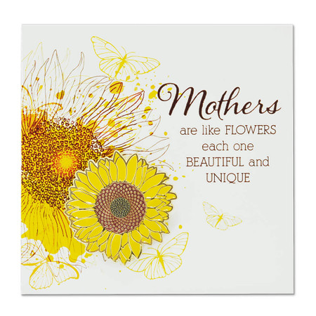 Mothers are like Flowers pin on Card Front
