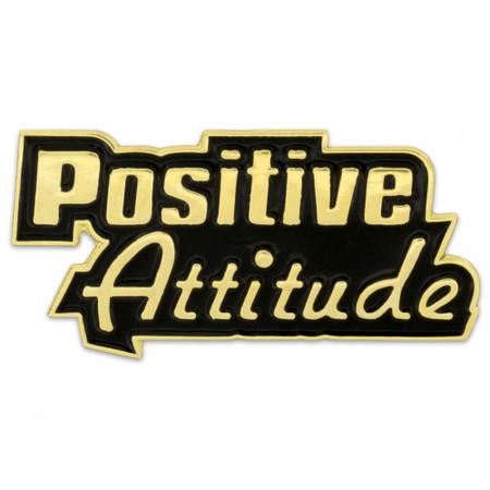 Positive Attitude Pin Front