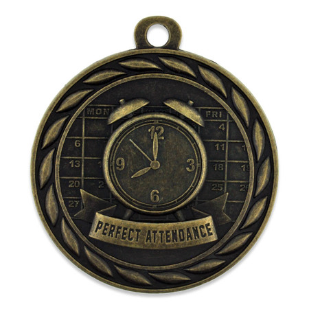 Perfect Attendance Medal Front