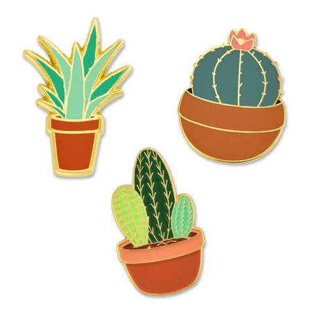 Potted Plant 3-Pin Set Front