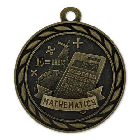 Mathematics Medal Front