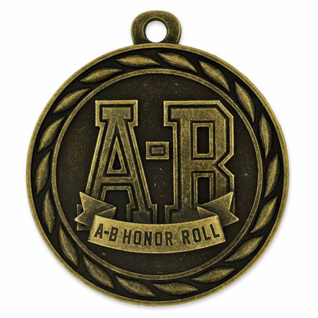 A-B Honor Roll Medal Front