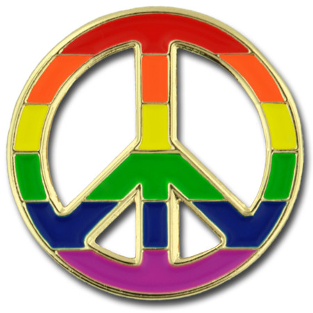 Pride Peace Pin Front