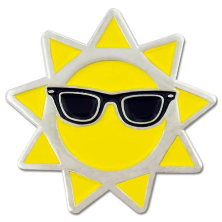 Cool Sun Lapel Pin Front