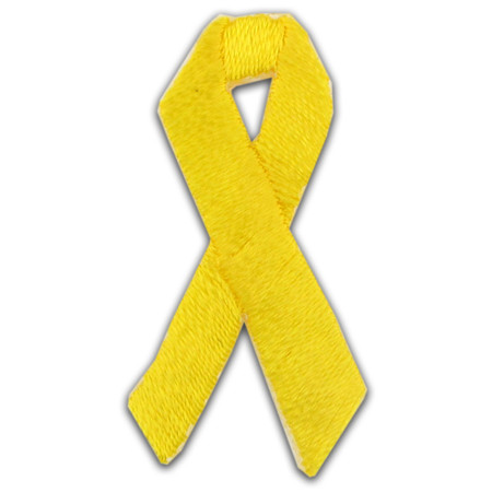 Applique-Yellow Ribbon Single