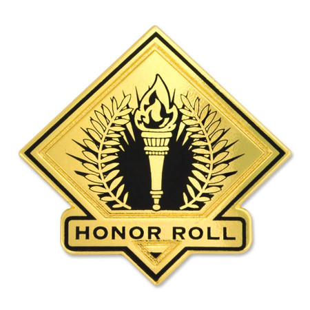 School Pin - Honor Roll Front