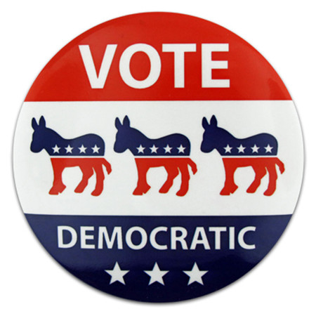 Vote Democratic Button
