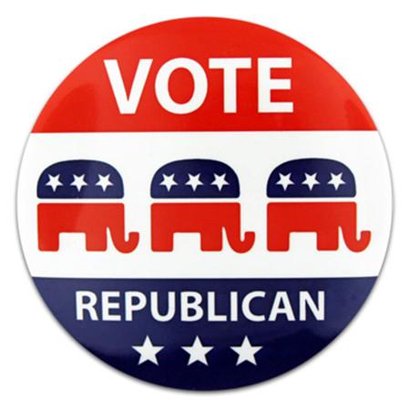 Vote Republican Button