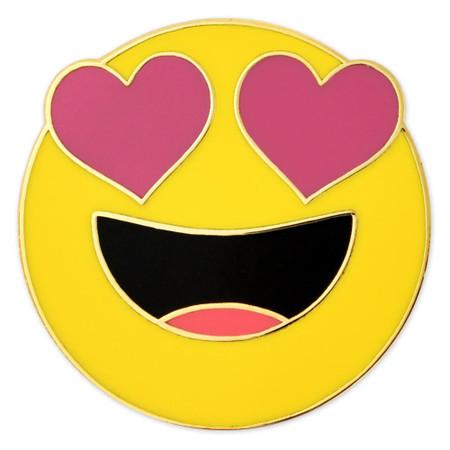 Heart Eyes Emoji Pin Front