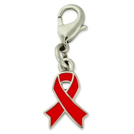 Red Awareness Ribbon Charm