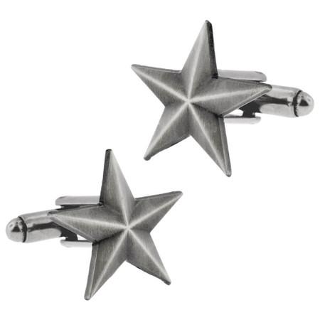 Antique Nickel Star Cufflink Set