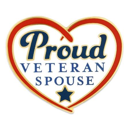 Proud Veteran Spouse Pin Front