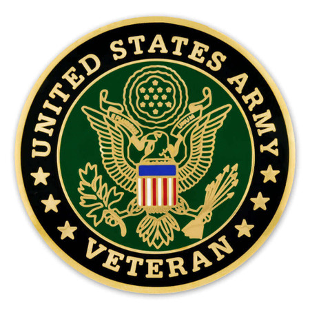 Army Veteran Coin - Engravable Front