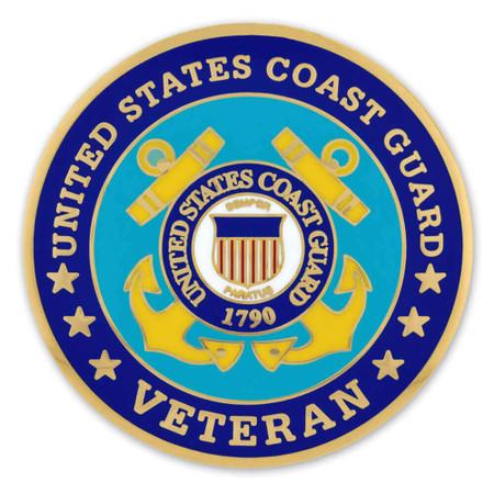 Coast Guard Veteran Coin - Engravable Front