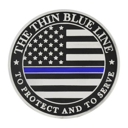 Thin Blue Line Coin - Engravable Front